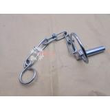 Kolík s krúžkom s retiazkou  (závlačka)  (E+retiazka)