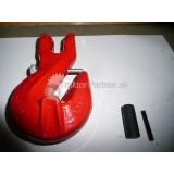 Hák C červený reťazový 10mm - čap a istiaca skrutka  3,15 T  (b)