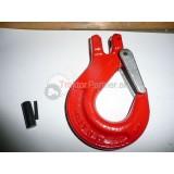 Hák C červený reťazový (stredný) 7/8-8mm+čap 2x + poistka  2t  (c)