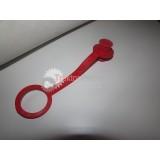 Prachovka zásuvky ISO červená [KNOMI]