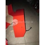 Blatník ľavý - [červený Z70, star. model, boč stena dlhsia 57 cm]